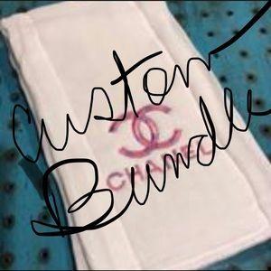 Custom Bundle of 4 Burp Cloths